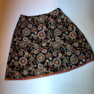 Talbots Dotted Circle A-Line Skirt